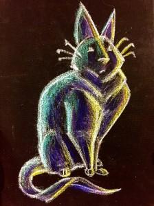 neon cat, cool cat, cat cartoon, cat caricature, black cats, black cat wall art, black cat painting, black cat drawing
