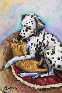 dalmatian art, dalmatian painting, watercolor dalmatian, dalmatian wall art, dog portrait, dog portait artist, pet portrait artist